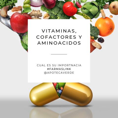 Vitaminas, aminoácidos y cofactores. ¿Cual es su importancia?